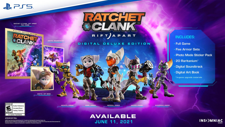 Ratchet & Clank Rift Apart - Des armures inédites pour la version Digital Deluxe Edition