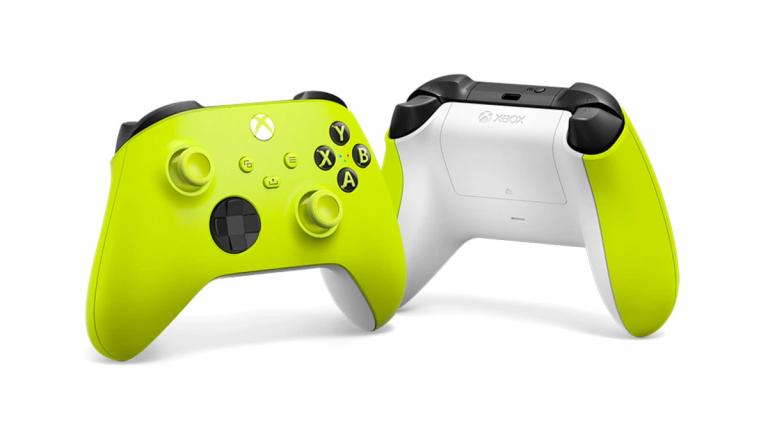 Manette sans fil Xbox Electric Volt disponible sur le Microsoft Store et la fnac