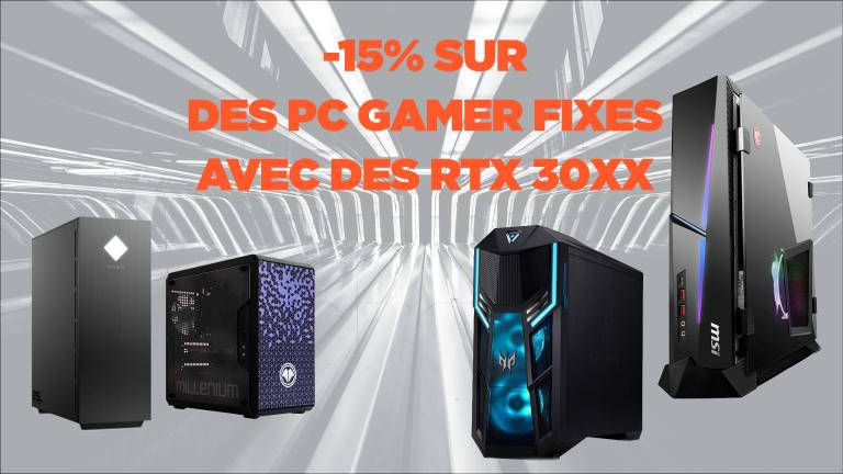 RTX 3060, 3070 et 3080 : -15% sur des PC de bureau