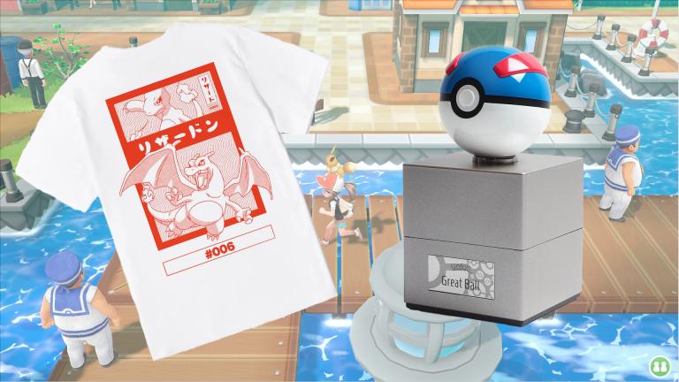 Pokémon : Attrapez la réplique de la Super Ball+ le T-Shirt évolution Dracaufeu