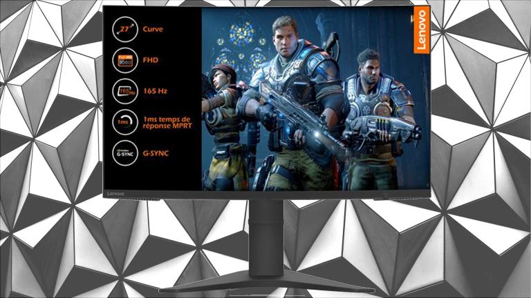 """L'écran PC gamer Lenovo G27 27"""" FHD 1ms 165Hz à moins de 200€"""
