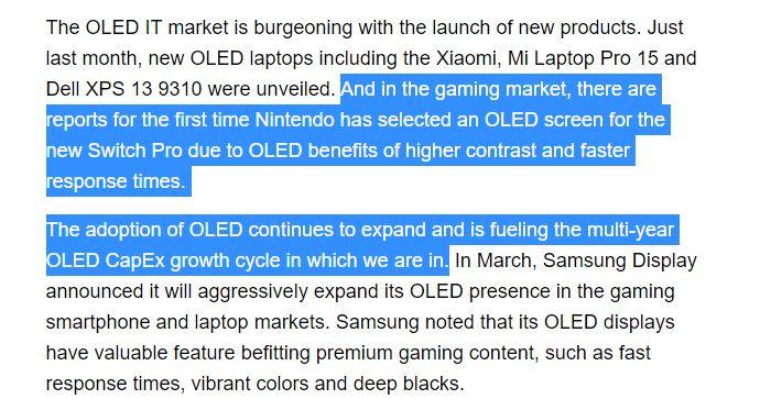 Nintendo Switch Pro : La console mentionnée par un fabricant d'écrans OLED