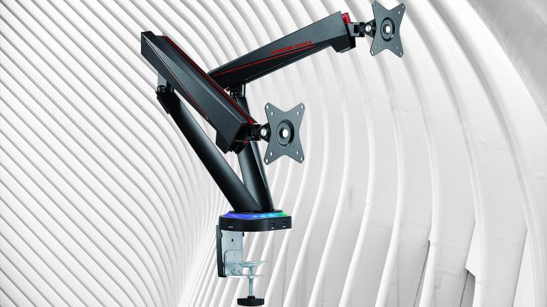 Double support pour écran PC : promotion sur les bras de moniteur Oplite RGB