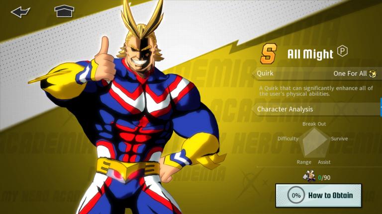My Hero Academia The Strongest Hero : système d'invocation de héros et de shards, comment ça marche ?