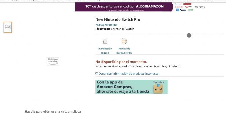 La Nintendo Switch Pro brièvement apparue sur Amazon Mexique ?