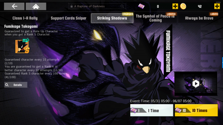 My Hero Academia The Strongest Hero : Fumikage Tokoyami, faut-il l'invoquer ? Analyse et guide