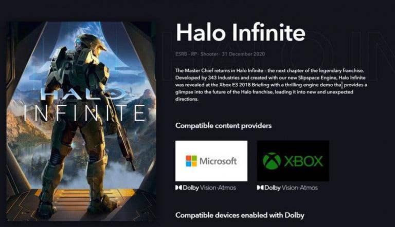 Halo Infinite pourrait être compatible Dolby Vision et Dolby Atmos