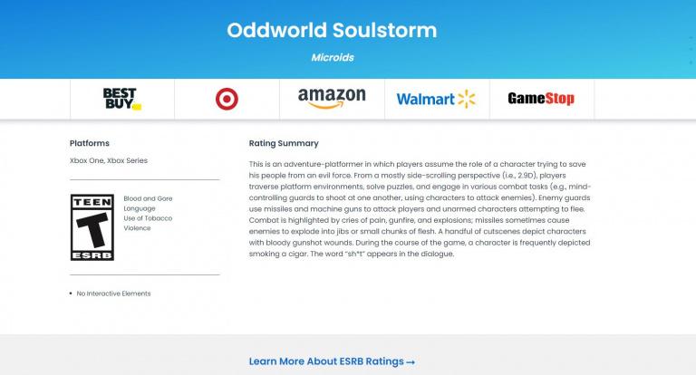 Oddworld Soulstorm listé sur Xbox One et Xbox Series