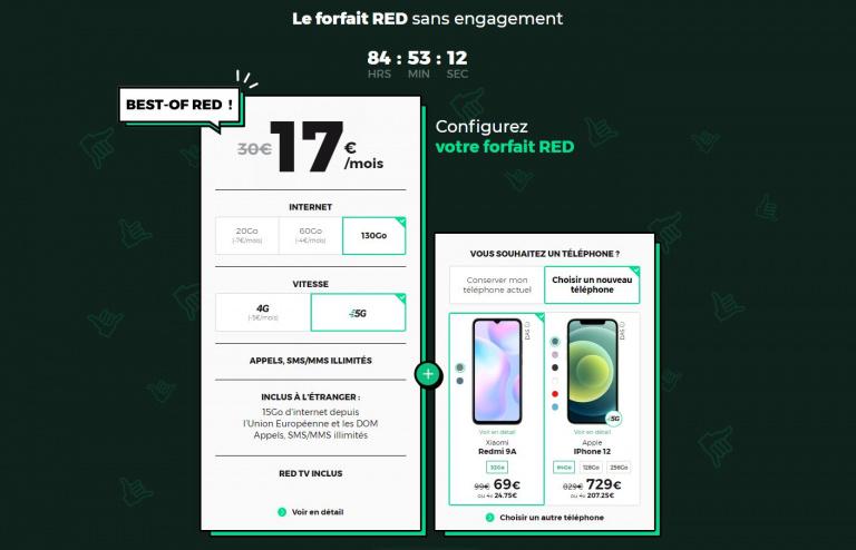 Red By SFR : Un forfait mobile 5G à moins de 20€ !