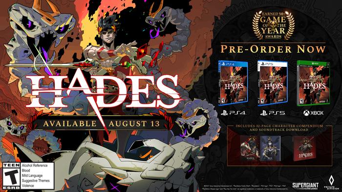 E3 2021 : Hades - Private Division et Supergiant s'expriment sur l'édition physique