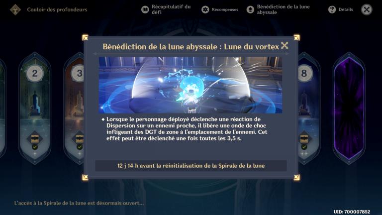 Genshin Impact : nouvelle bénédiction de la lune abyssale des Profondeurs spiralées, nos conseils