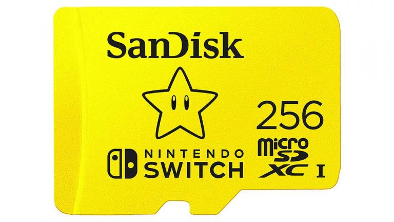 Nintendo Switch : La SanDisk carte microSDXC officielle de 256Go à moins de 40€ !