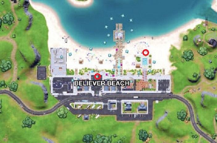 Fortnite, saison 7 : placer des enceintes à Believer Beach (défis légendaires de semaine 3)