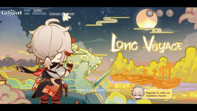 """Genshin Impact, événement web """"Long voyage"""" : des primo-gemmes à récupérer"""