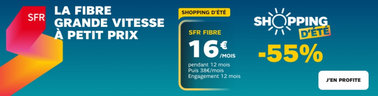 SFR : L'abonnement Fibre Haut débit engagement 12 mois à 16€ !