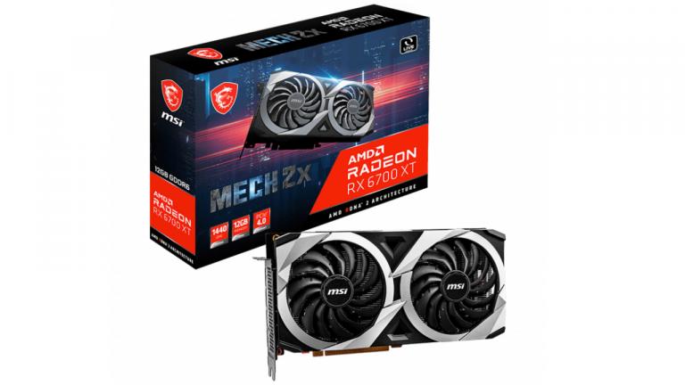 Prix de la MSI Radeon RX 6700 XT MECH 2X 12 Go OC : une offre Cdiscount