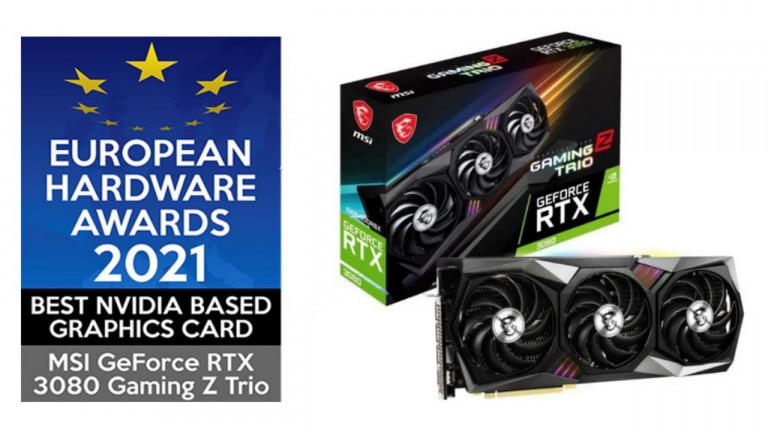 La RTX 3080 Gaming Z de MSI, qui a gagné le prix 2021 de la meilleure carte graphique nvidia, en stock