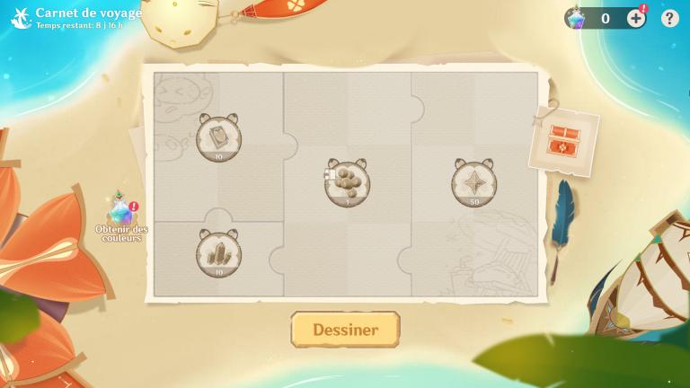 """Genshin Impact, événement web """"Carnet de voyage"""" : Des primo-gemmes et des plans de décoration à récupérer"""
