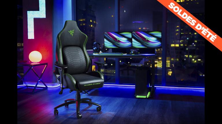 Soldes : La chaise gaming haut de gamme Razer Iskur en promo