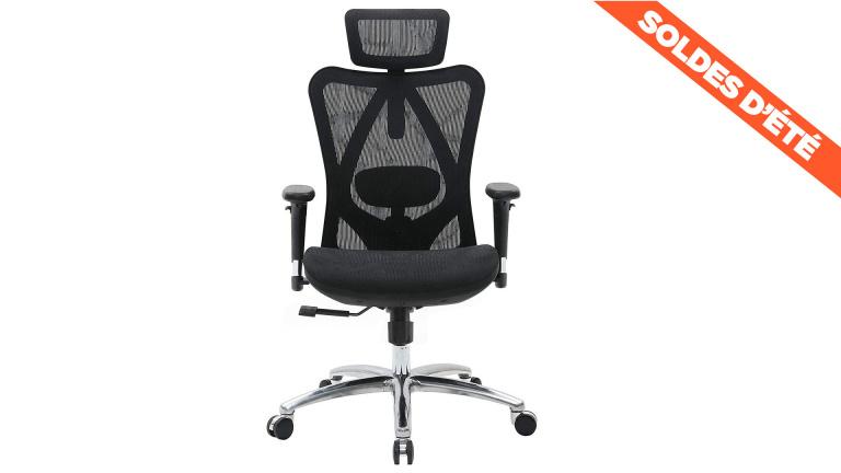 Soldes : le siège ergonomique Sihoo avec dossier respirant en promotion