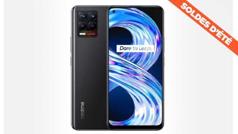 Soldes : le smartphone Realme 8 avec écran Super AMOLED à un prix cassé !