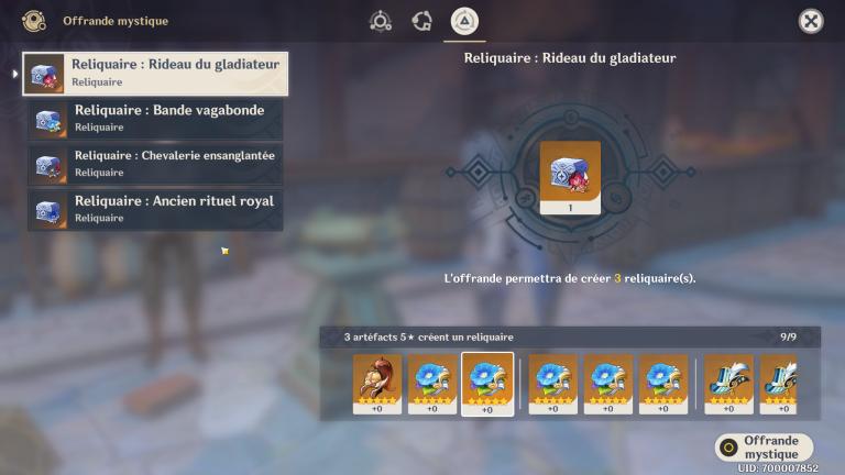 Genshin Impact 2.0, Échange d'artefacts : une arnaque ? Notre guide