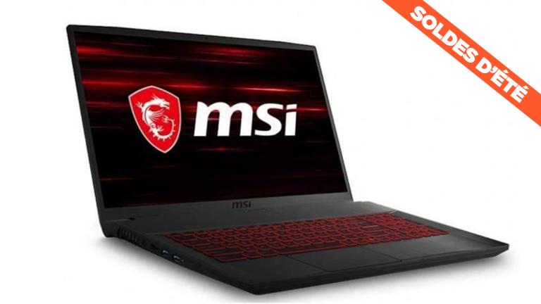 """Dernières heures des soldes : le PC portable MSI GF75 Thin 17,3"""" avec RTX 2060 à 859€ !"""