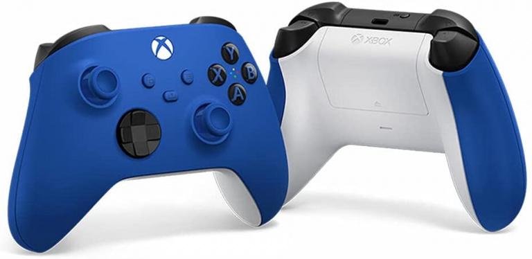 Dernières heures des soldes : la manette Xbox sans fil Shock blue à prix soldé