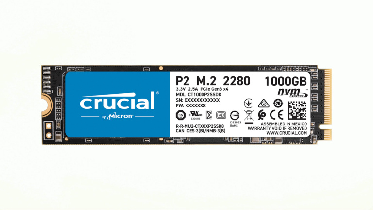 Le SSD NVMe 1 To Crucial P2 à un prix attractif !