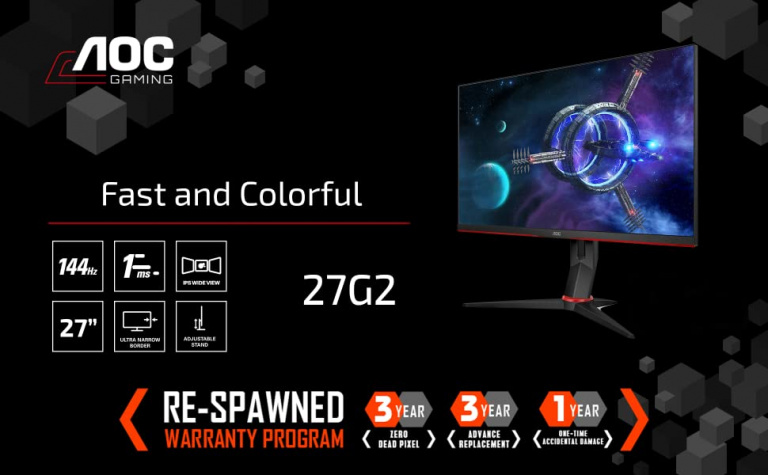 L'écran PC gamer AOC 27 pouces 144Hz 1ms au meilleur prix