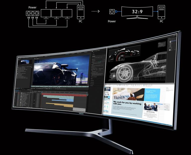 L'écran PC gamer incurvé Samsung C49 49 pouces, 144Hz FreeSync au meilleur prix