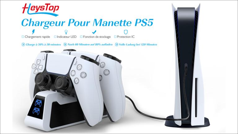 PS5 : promotion sur le chargeur de manettes