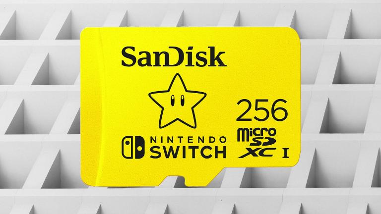 La carte MicroSD SanDisk spécial Nintendo Switch en réduction