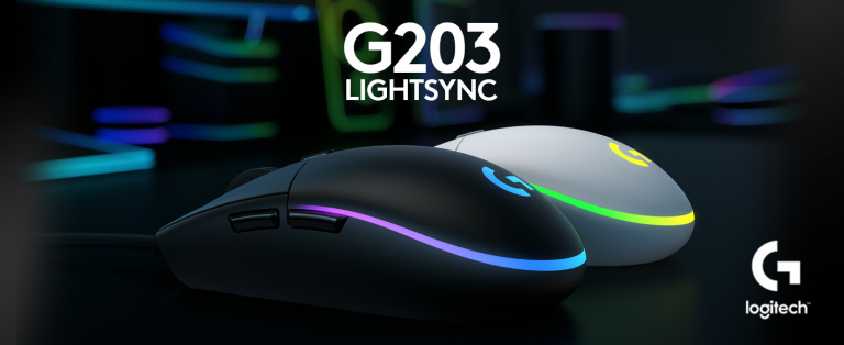 La souris gamer Logitech G203 LIGHTSYNC en promotion
