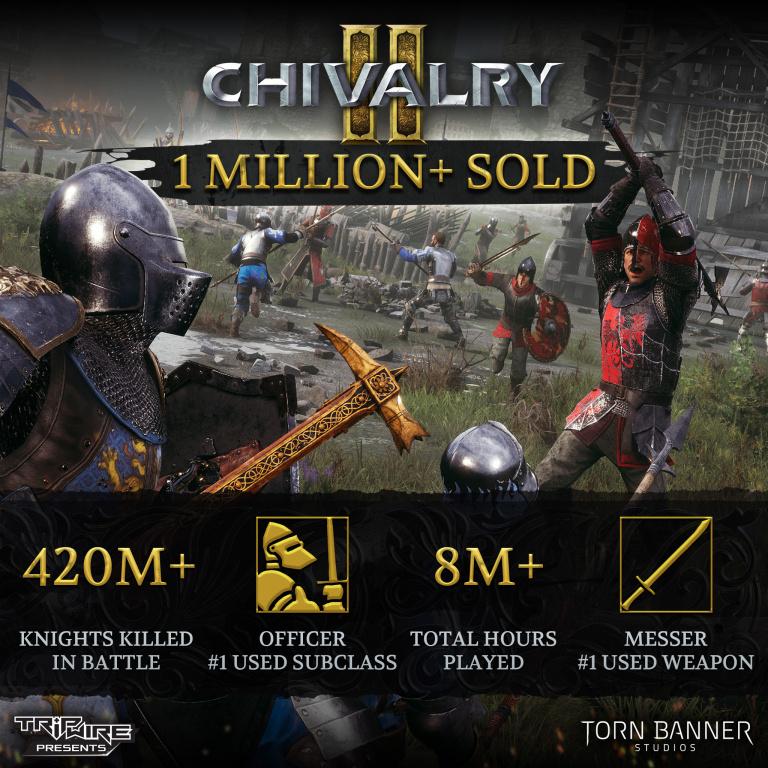 Chivalry 2 : le jeu dévoile ses ventes et quelques autres chiffres, c'est un succès