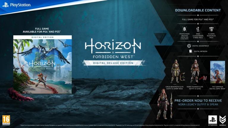 Horizon Forbidden West : Les précommandes disponibles et détaillées