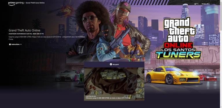 GTA 5, GTA Online : 400 000 $ offerts en septembre pour tous les abonnés Prime Gaming, comment les obtenir