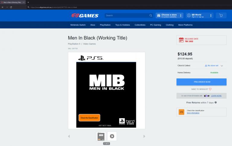 Men in Black : une exclu PS5 à venir, par les développeurs de Days Gone ?