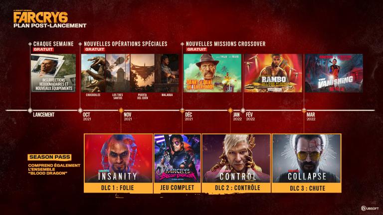 Far Cry 6 : des DLC et des invités de marque, dont Rambo, pour le contenu post-lancement