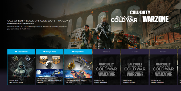 Call of Duty Warzone, récompenses Prime Gaming septembre : comment les obtenir ?