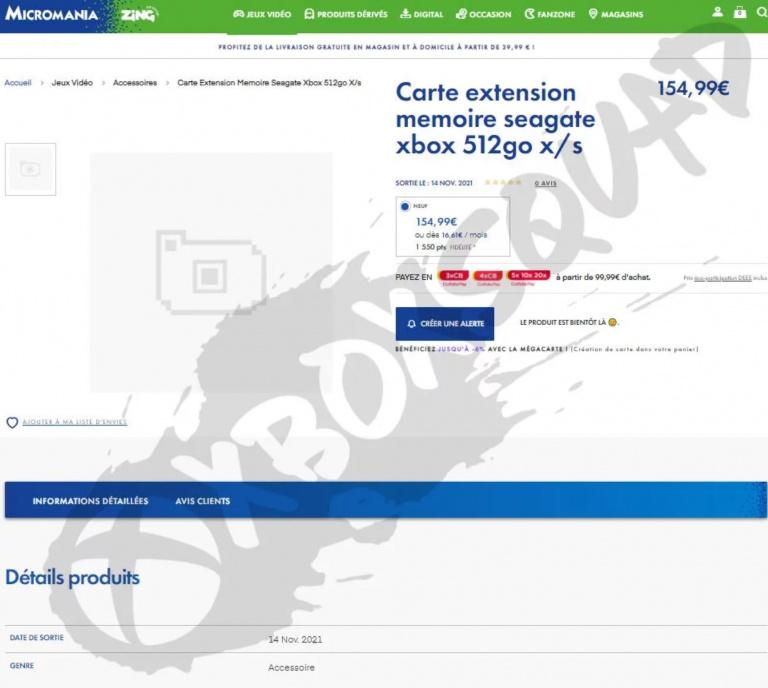 Xbox Series : de nouvelles cartes d'extension à venir, date, prix et capacité