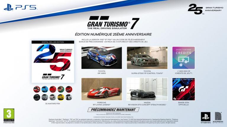 Gran Turismo 7 : Les éditions 25e Anniversaire dévoilées, voici ce qu'elles contiennent