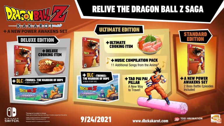 Dragon Ball Z Kakarot : Goku et ses compagnons prêts à montrer leur puissance sur Switch