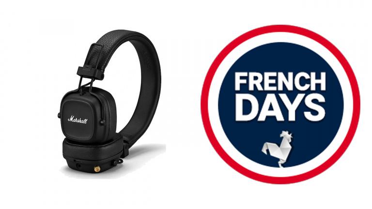 French Days 2021 : Très bon prix pour le casque Bluetooth Marshall Major IV