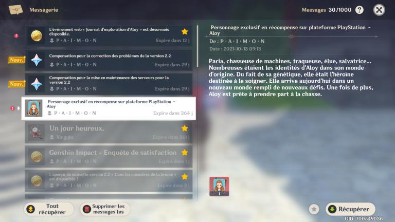 Genshin Impact 2.2, Aloy 5* dispo gratuitement sur PC / Mobiles : comment l'obtenir et compléter son event web ?