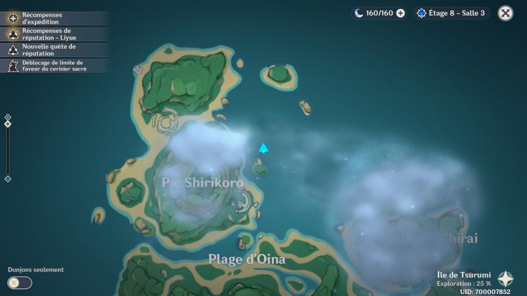 Genshin Impact, comment faire disparaître le brouillard du pic Shirikoro