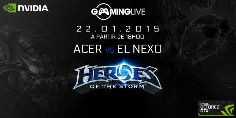 Showmatchs CS:GO et Heroes of the Storm avec NVIDIA jeudi