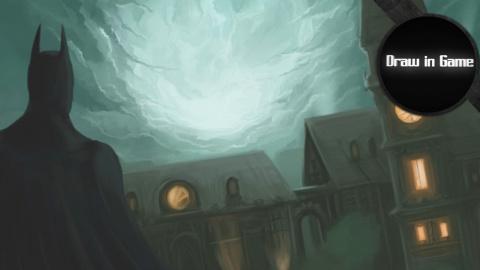 Batman Arkham Asylum : Le chevalier noir observe Arkham