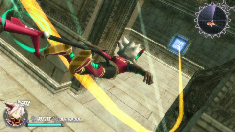 Rodea The Sky Soldier vole vers l'Occident