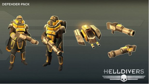 3 packs de renfort pour Helldivers